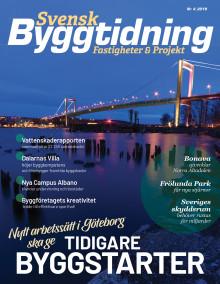 Nya numret av Svensk Byggtidning nr 4 2019 ute nu!