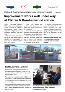 Improvement works well under way at Elstree