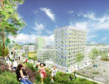 Riksbyggen bygger drygt 200 nya bostäder i Flemingsberg