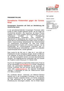 Europäische Fördermittel gegen die Corona-Krise