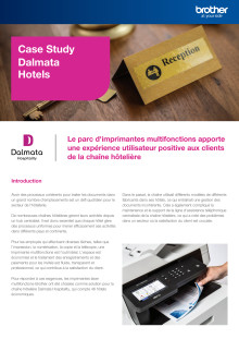 Case Study Brother MPS avec chaîne hôtelière Dalmata - MFC-L8900CDW
