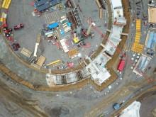 Följ bygget av Helsingborgs nya vattentorn