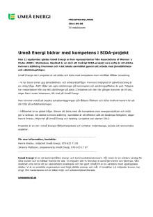 Umeå Energi bidrar med kompetens i SIDA-projekt