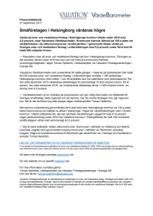 Värdebarometern 2017 Helsingborgs kommun