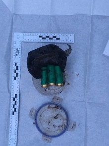 Shotgun cartridges recovered during land search in Speke