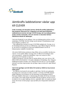 Jämtkrafts laddstationer växlar upp till CLEVER