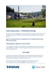Informasjonsmøte i Åfjord om turbintransporter, 20. mars 2019