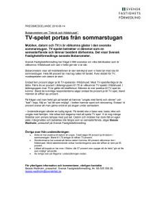 """Bobarometern om """"Teknik och fritidshuset"""": TV-spelet portas från sommarstugan"""