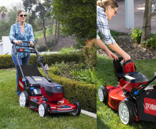 Helt ny, tyst batteridriven gräsklippare från Toro!
