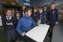 Largs pupils get a lesson with fibre broadband