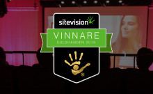 SiteVision presenterar stolt vinnarna av Guldhanden 2016