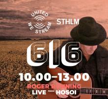 """Roger Rönning medverkar i den 24 timmar långa musikfestivalen """"United We Stream Sthlm"""" till förmån för Stockholms kultur och nattliv!"""