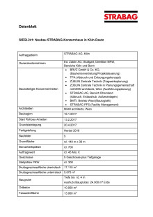 """Datenblatt: Neubau der Unternehmenszentrale in Köln """"SIEGI.241"""""""