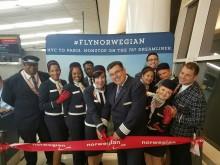 Norwegian firar första flygningen mellan Frankrike och USA