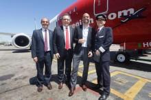 Stor glädje i Argentina idag när första inrikesflyget lyfte