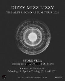 To EKSTRA koncerter med Dizzy Mizz Lizzy i Store VEGA til april.