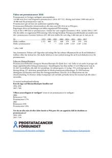 Fakta om prostatacancer 2018