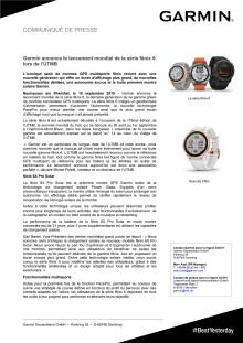 Garmin annonce le lancement mondial de la série fēnix 6 lors de l'UTMB