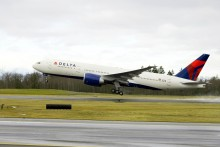 Delta-Virgin New York to Edinburgh route takes off
