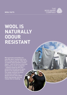 Wool natural odour resistant