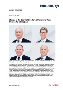 Change in the Board of Directors of Panalpina World Transport (Holding) AG