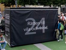 MARIESTADS KUB FÖR MÄNSKLIGA RÄTTIGHETER STÄLLS UT I STOCKHOLM