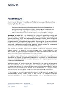 AbbVie Healthcare Monitor: So denkt Deutschland über eHealth und Gesundheitspolitik