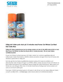 Dålig lukt i bilen puts väck på 15 minuter med Power Out Whole Car Blast