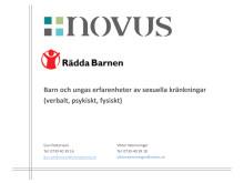 Novus: Barn och ungas erfarenheter av sexuella kränkningar