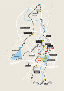 Bansträckning 10 km - Kretsloppet 2017