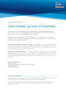 Colliers förmedlar nya lokaler till Arkitektkopia