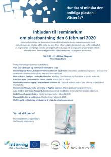 Inbjudan seminarium om plastbantning 6/2 2020