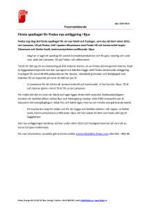 Första spadtaget för Findus nya anläggning i Bjuv