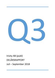 Irisity AB (publ) Delårsrapport tredje kvartalet 2018