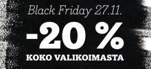 Kirjakauppa-ala mukaan perjantain Black Friday –alennuspäivään!