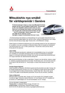 Mitsubishis nya småbil får världspremiär i Genève