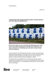 Laddoperatören Bee Charging Solutions bakom oväntade skyltarna som visar vägen till laddstationerna