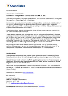 Scandlines tilbagebetaler Corona-støtte på DKK 69 mio.