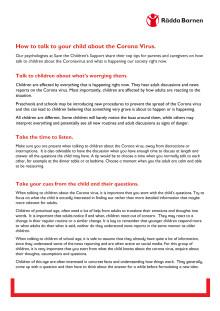 Engelska: så pratar du med barn om corona