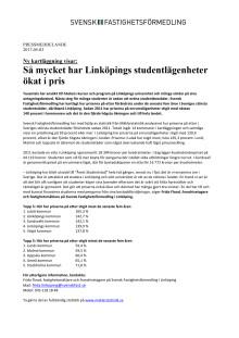 Ny kartläggning visar: Så mycket har Linköpings enrumslägenheter ökat i pris