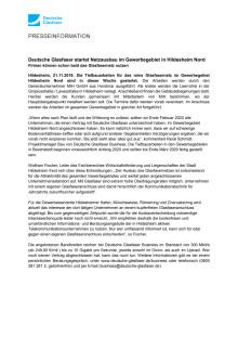 Deutsche Glasfaser startet Netzausbau im Gewerbegebiet in Hildesheim Nord