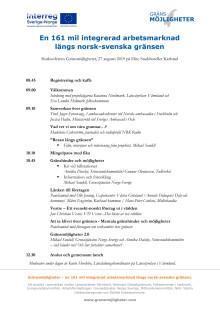 Slutkonferens - Gränsmöjligheter - program