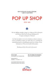 Den tillfälliga saluhallen är stängd - men vi har öppet i vår Pop-Up Shop!