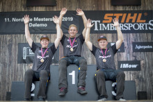 Emil Hansson nordisk mästare i Rookie-NM i Timbersports