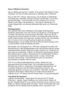 Ingvar Lidholm in memoriam  (svenska)
