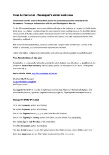 Invite press accreditation Vasaloppet 2016 - English