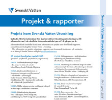 SVUs informationsblad nr 1, april 2016