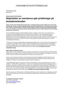 Bobarometern 2019 avslöjar: Majoriteten av svenskarna spår prisökningar på bostadsmarknaden