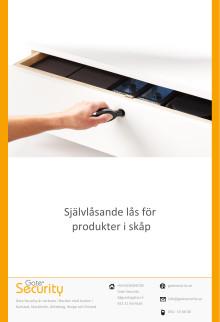 Självlåsande lås för produkter i skåp