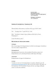 Kallelse till årsstämma i Swedavia AB 2019